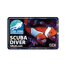open water scuba diver card